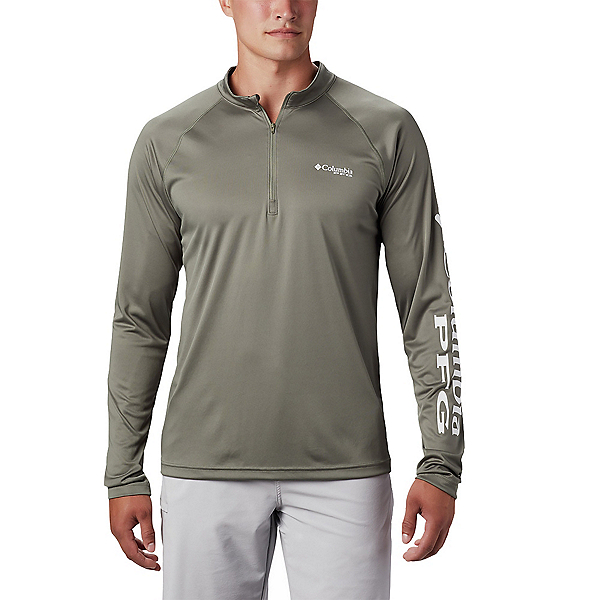 Columbia Terminal Tackle 1/4 Zip Mens Shirt 2020, Cypress-White, 600