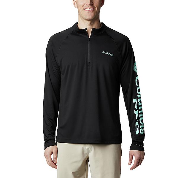 Columbia Terminal Tackle 1/4 Zip Mens Shirt, Black, 600