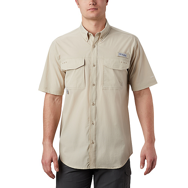 Columbia Permit Woven SS Mens Shirt, Fossil, 600