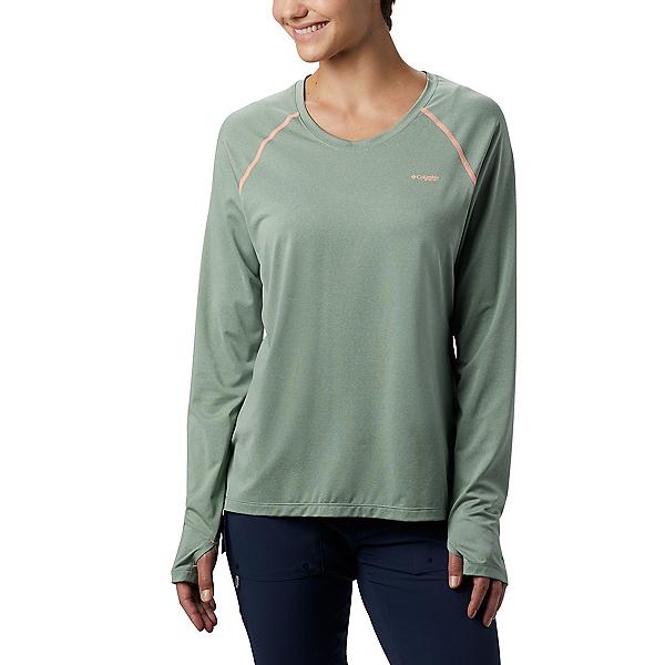 Columbia Tamiami Heather Knit Womens Shirt 2020, Light Lichen-Tiki Pink, 600