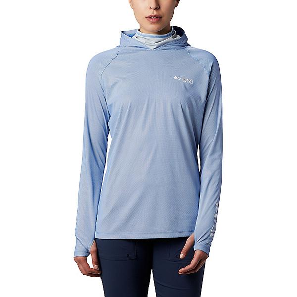 Columbia Tidal Deflector Zero Hood Womens Hoodie, Stormy Blue-Cirrus Grey, 600