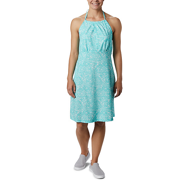 Columbia Armadale II Halter Dress, Dolphin Buoy Waves, 600