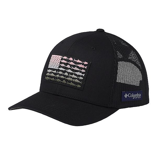 Columbia PFG Mesh Snap Fish Flag Hat, Black-Cypress, 600