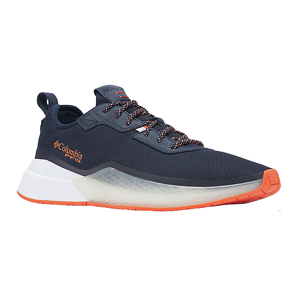 Columbia Low Drag PFG Mens Shoes, Collegiate Navy-Tangy Orange, 600