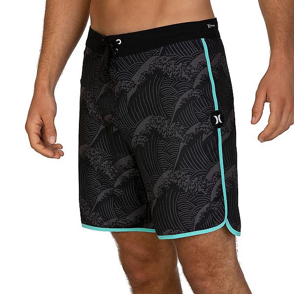 Hurley Phantom Waves 18in Mens Board Shorts 2020, Black, 600