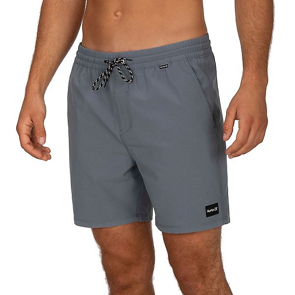 Hurley One & Only Volley 17in Mens Board Shorts, Cool Grey, 600