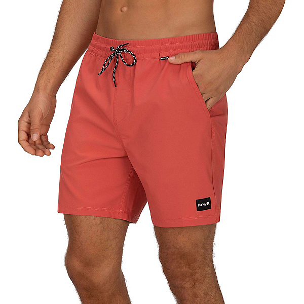 Hurley One & Only Volley 17in Mens Board Shorts 2020, Pueblo Red, 600