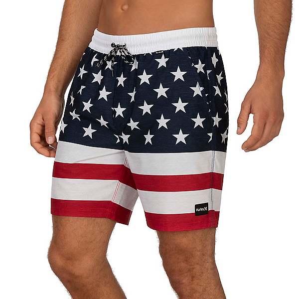 Hurley Patriot Volley 18in Mens Board Shorts 2020, , 600