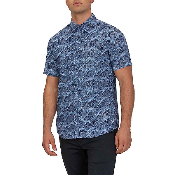 Hurley Waves Short Sleeve Mens Shirt 2020, Obsidian, 600