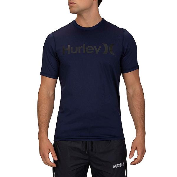 Hurley One & Only Surf Short Sleeve Mens Rash Guard 2020, Obsidian, 600