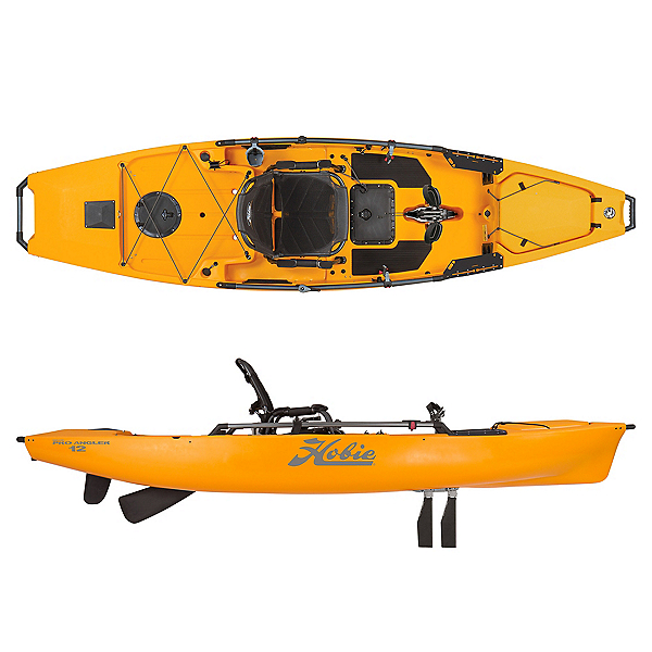 Hobie Mirage Pro Angler 12 ft. Kayak 2020, Papaya, 600