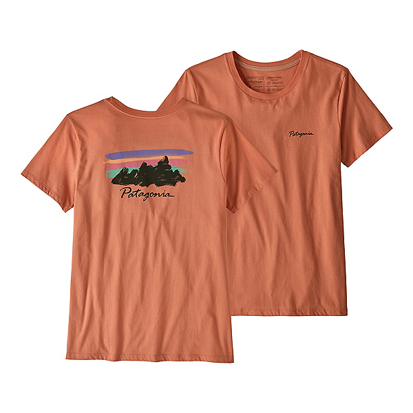 Patagonia Free Hand Fitz Roy Womens T-Shirt, Mellow Melon, 600