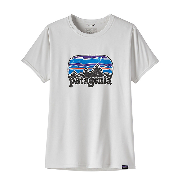 Patagonia Cap Cool Daily Graphic Womens T-Shirt, Fitz Roy Far Out-White, 600
