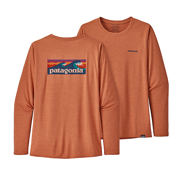 Patagonia Capilene Cool Daily Graphic LS Womens Shirt, Mellow Melon X Dye, 600