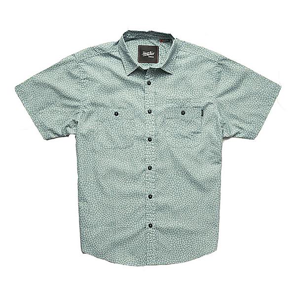 Howler Brothers Aransas Mens Shirt, Seaspray Shattered Glass Print, 600
