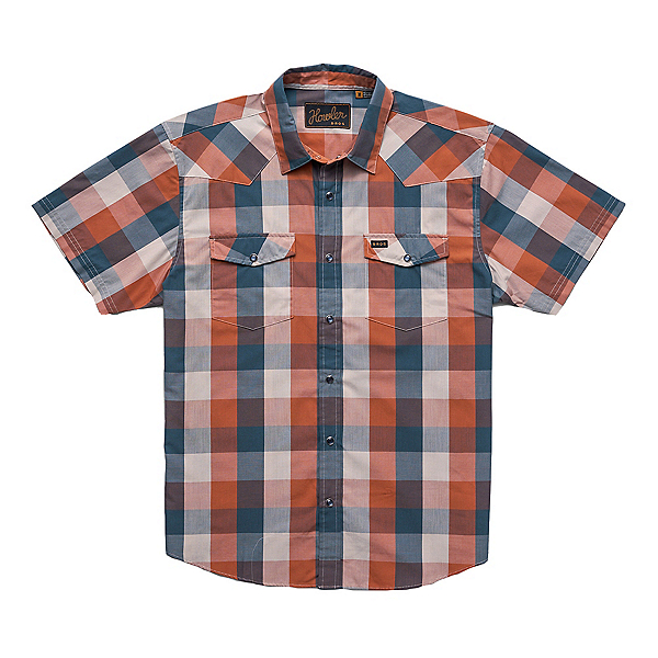 Howler Brothers H Bar B Tech Mens Shirt, Clay Midnight Alpine Plaid, 600