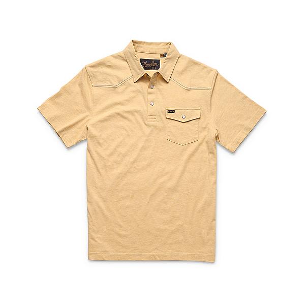 Howler Brothers Ranchero Polo Mens Shirt, Sunflower Heather, 600