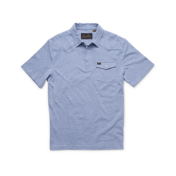 Howler Brothers Ranchero Polo Mens Shirt 2020, Vintage Blue Heather, 600