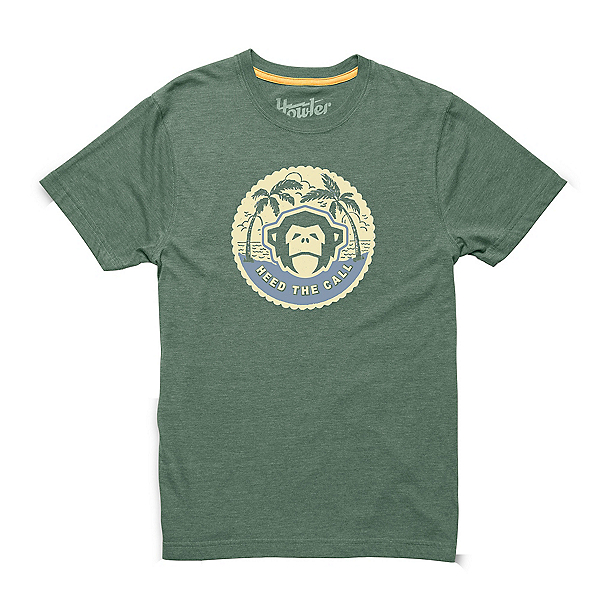 Howler Brothers Howler Mens T-Shirt, Faded Olive Mono Medallion, 600