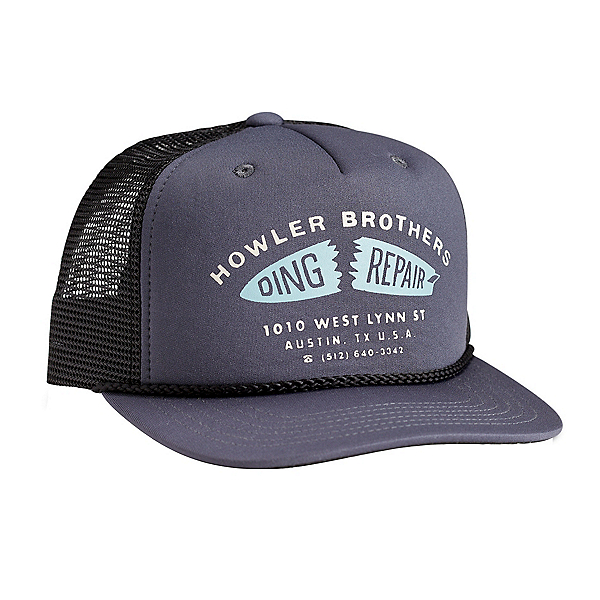 Howler Brothers Structured Snapback Hat, Ding Repair Charcoal, 600