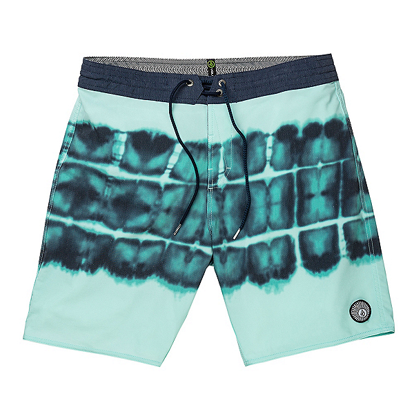 Volcom Trip Trip Stoney Mens Board Shorts, Mysto Green, 600
