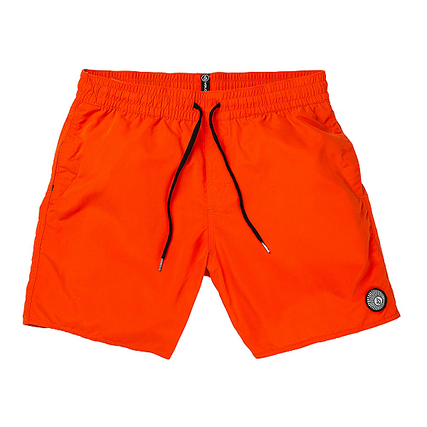 Volcom Lido Solid Mens Board Shorts, Pepper Red, 600