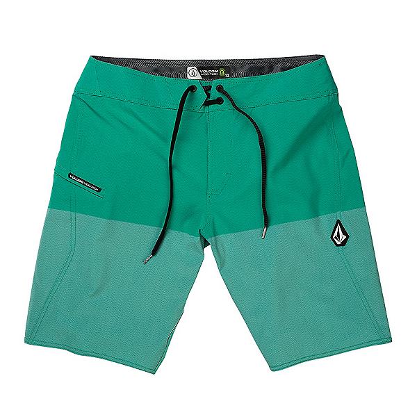 Volcom Lido Heather Mod Mens Board Shorts, Mysto Green, 600
