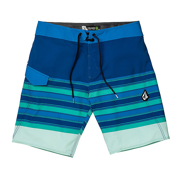 Volcom Lido Liney Mod Mens Board Shorts, Deep Water, 600