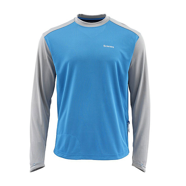 Simms Solarflex Plus Crew Mens Sweatshirt, Pacific, 600