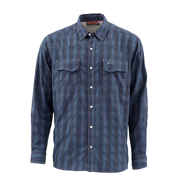 Simms Big Sky Long Sleeve Mens Shirt, Admiral Blue, 600