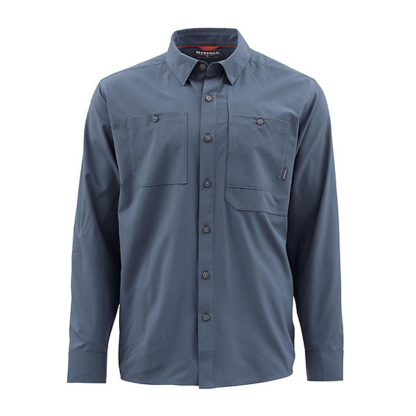 Simms Double Haul Long Sleeve Mens Shirt, Dark Moon, 600