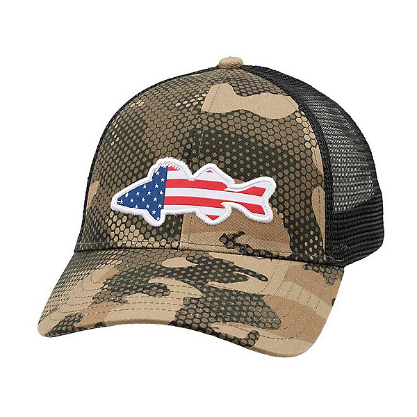Simms USA Walleye Trucker Hat, , 600