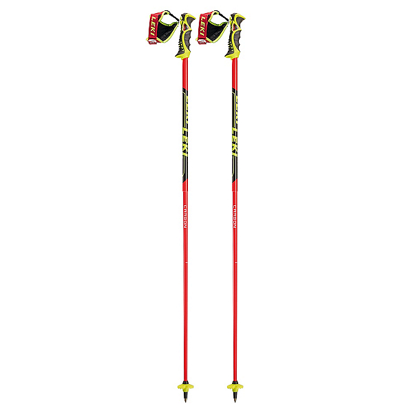 Leki Venom SL Ski Poles, Red-Black, 600