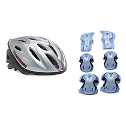 Rollerblade Lux Activa 3 Pad Pack with Rollerblade Workout Womens Helmet, , 256