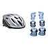 Rollerblade Lux Activa 3 Pad Pack with Rollerblade Workout Womens Helmet