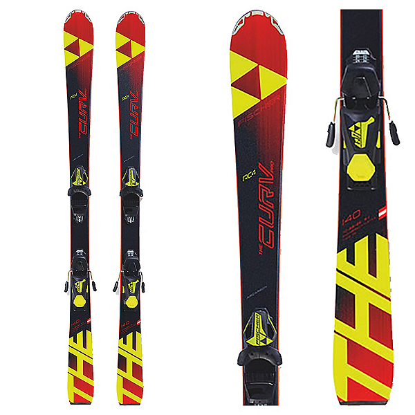 Fischer RC4 The Curv Pro Junior Race Skis with FJ7 AC SLR Brake 78 Bindings, , 600