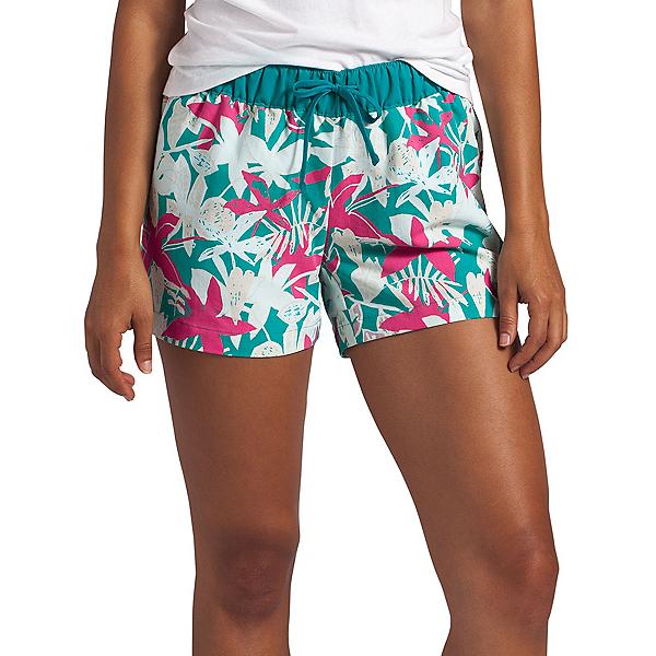 The North Face Class V Womens Hybrid Shorts (Previous Season) 2020, Jaiden Green Small Festive Flo, 600