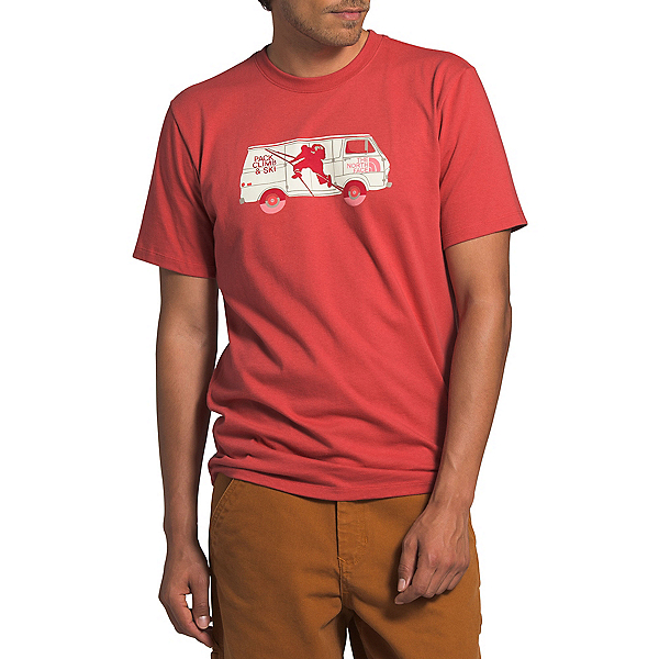 The North Face Outdoor Free Mens T-Shirt (Previous Season) 2020, Sunbaked Red, 600