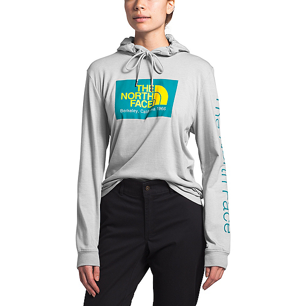 The North Face 66 California Tri-Blend Womens Hoodie, TNF Light Grey Heather, 600