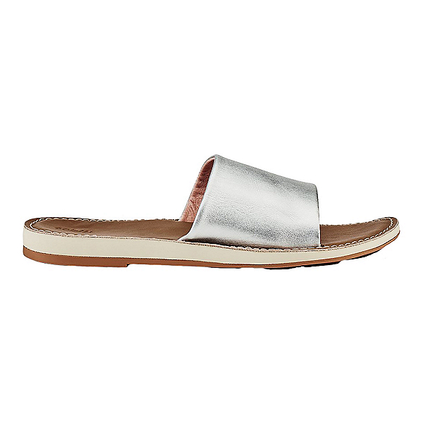 OluKai Nohie 'Olu Womens Sandals, Silver-Tan, 600