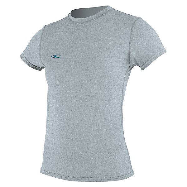 O'Neill Hybrid Short Sleeve Womens Rash Guard, Cool Grey, 600