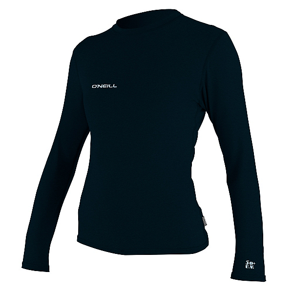 O'Neill Hybrid Long Sleeve Womens Rash Guard 2020, Slate, 600