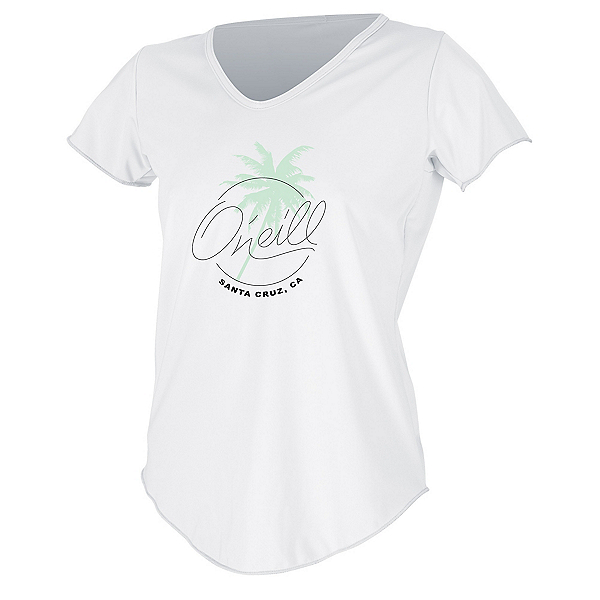 O'Neill Graphic Scoop Womens Rash Guard 2020, White, 600