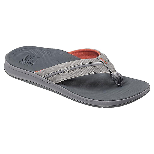 Reef Ortho-Bounce Coast Mens Flip Flops, Charcoal-Rust, 600