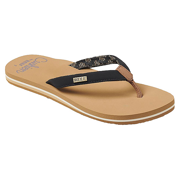 Reef Cushion Sands Womens Flip Flops, Black-Tan, 600