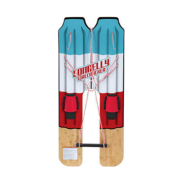 Connelly Firecracker Trainer Junior Combo Water Skis With Foot Strap w/Traction Pad Bindings 2020, , 600