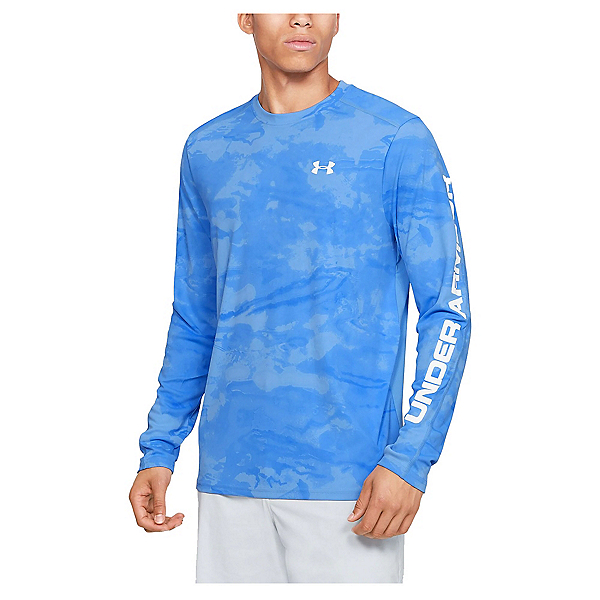 Under Armour Chill Shore Break Mens Shirt, Carolina Blue-White, 600