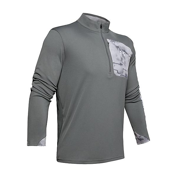 Under Armour Iso Chill Shore Break Half Zip Mens Shirt 2020, Halo Gray-Pitch Gray, 600