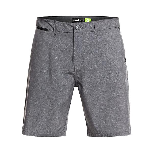 Quiksilver Union Heather Amphibian Mens Hybrid Shorts, Black, 600