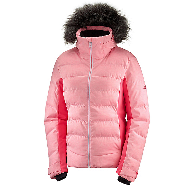 Salomon Stormcozy Womens Insulated Ski Jacket, Calypso Coral, 600